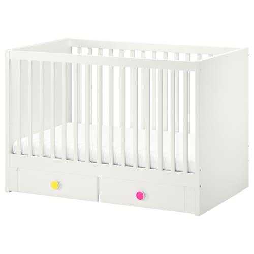"""STUVA / FÖLJA lit bébé à tiroirs blanc 54 3/4 """" 29 1/8 """" 36 1/4 """" 27 1/2 """" 52 """""""