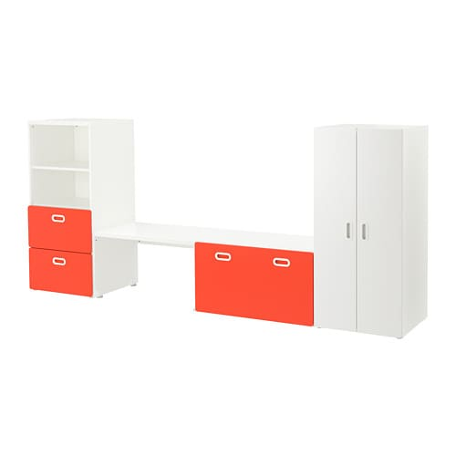 stuva fritids meuble de rangement blanc rouge ikea. Black Bedroom Furniture Sets. Home Design Ideas