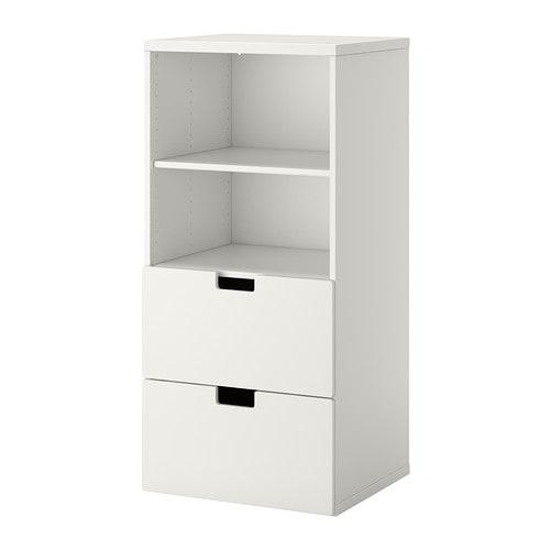 Stuva meuble de rangement blanc blanc ikea for Meuble blanc ikea