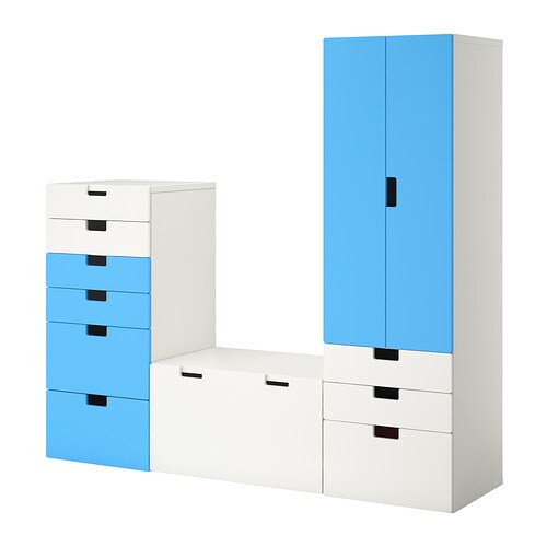 stuva meuble de rangement blanc bleu ikea. Black Bedroom Furniture Sets. Home Design Ideas