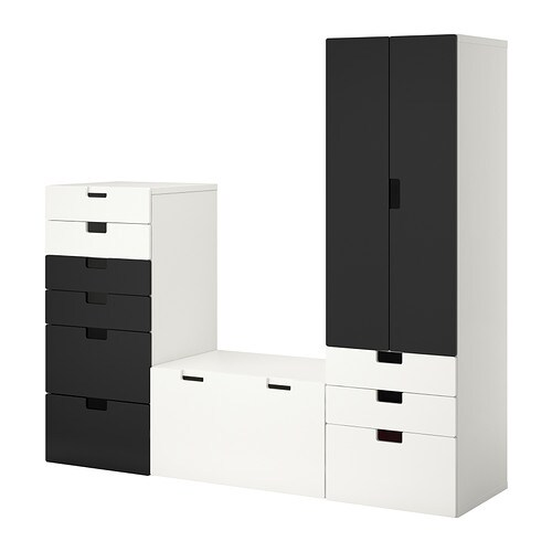 stuva meuble de rangement blanc noir ikea. Black Bedroom Furniture Sets. Home Design Ideas