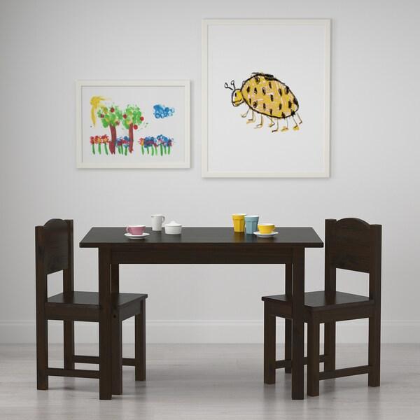 SUNDVIK Table enfant - brun-noir - IKEA