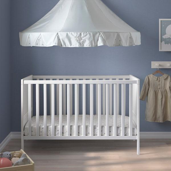 "SUNDVIK Lit de bébé, blanc, 27 1/2x52 """