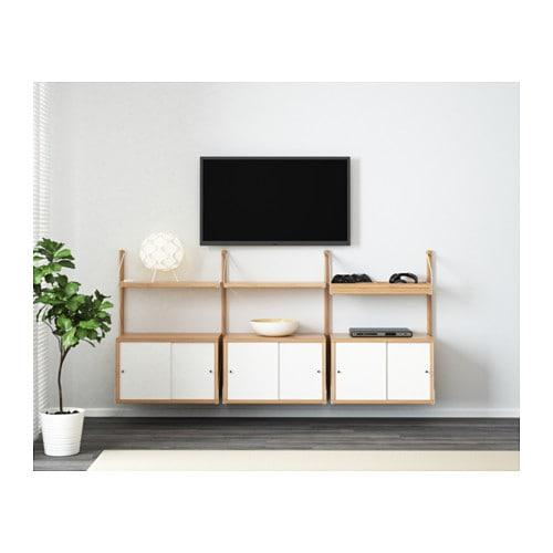Svalnäs Rangement Mural Bambou Blanc