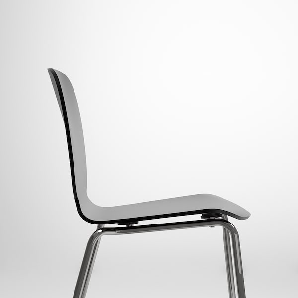 SVENBERTIL Chaise, noir/Broringe chromé
