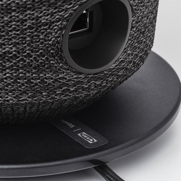 SYMFONISK Lampe table haut-parleur wifi int, noir