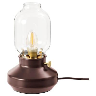 TÄRNABY Lampe de table, rouge foncé