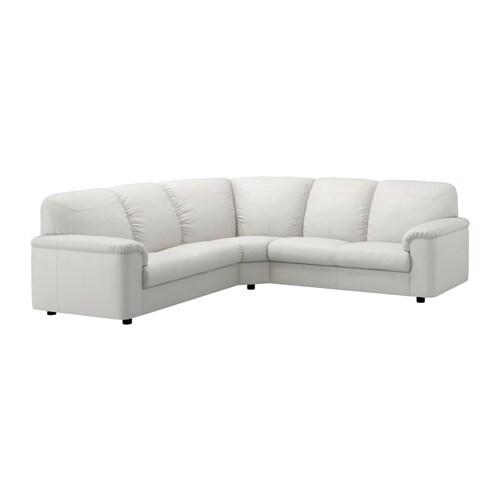 timsfors canap d 39 angle 2 2 mjuk kimstad blanc cass ikea. Black Bedroom Furniture Sets. Home Design Ideas