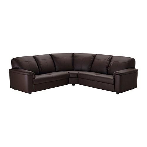 Timsfors canap d 39 angle 2 2 mjuk kimstad brun fonc ikea for Ikea canape angle