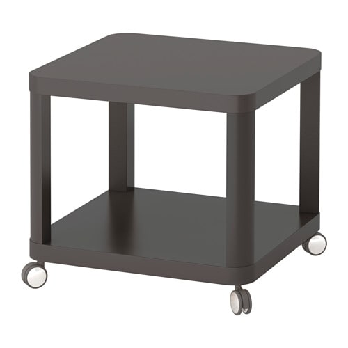 Tingby table d 39 appoint roulettes gris ikea for Ikea besta table d appoint