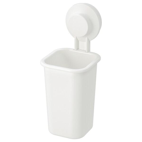 TISKEN Porte-brosses à dents à ventouse, blanc