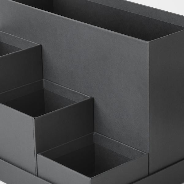 """TJENA Range-tout de bureau, noir, 7x6 ¾ """""""