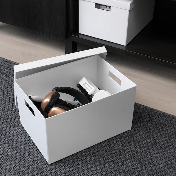 TJENA Boîte de rangement avec couvercle - blanc - IKEA