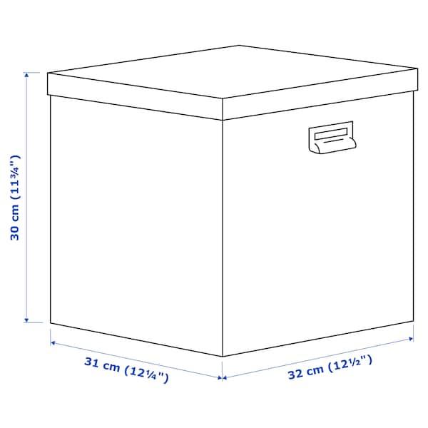 """TJOG Boîte de rangement avec couvercle, gris foncé, 12 ½x12 ¼x11 ¾ """""""