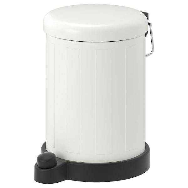 TOFTAN Poubelle, blanc, 1 gallon