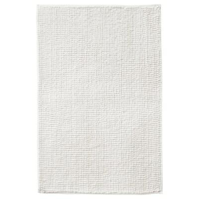 "TOFTBO Tapis de bain, blanc, 20x32 """
