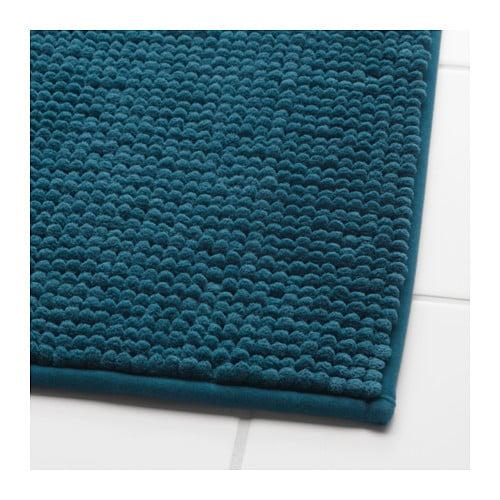 TOFTBO Tapis de bain, bleu-vert