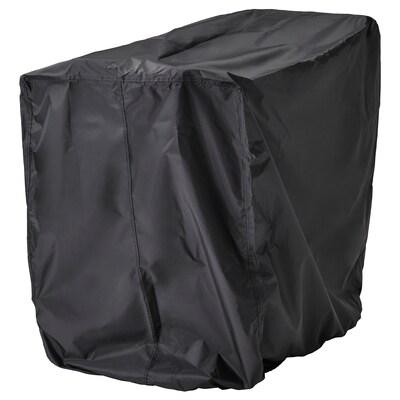 """TOSTERÖ Housse pour mobilier d'extérieur, table et chaises/noir, 39 3/8x27 1/2 """""""