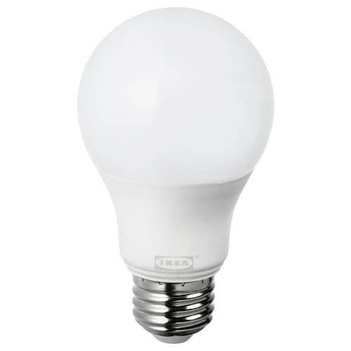 TRÅDFRI ampoule à DEL E26 806 lumens variateur d'intensité sans fil blanc chaud/sphérique opalin 2700 K 806 lm 8.9 W