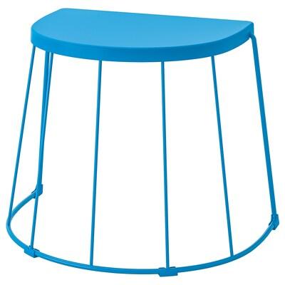 "TRANARÖ Tabouret/table d'appoint, int/ext, bleu, 22x16 1/8x16 7/8 """