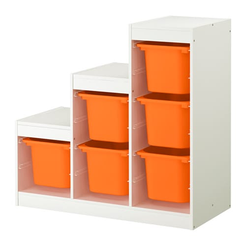 trofast meuble de rangement blanc orange ikea. Black Bedroom Furniture Sets. Home Design Ideas