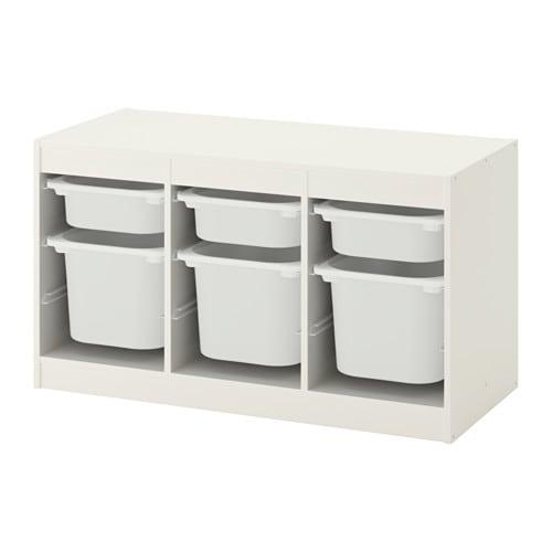 trofast rangement bo tes blanc blanc ikea. Black Bedroom Furniture Sets. Home Design Ideas