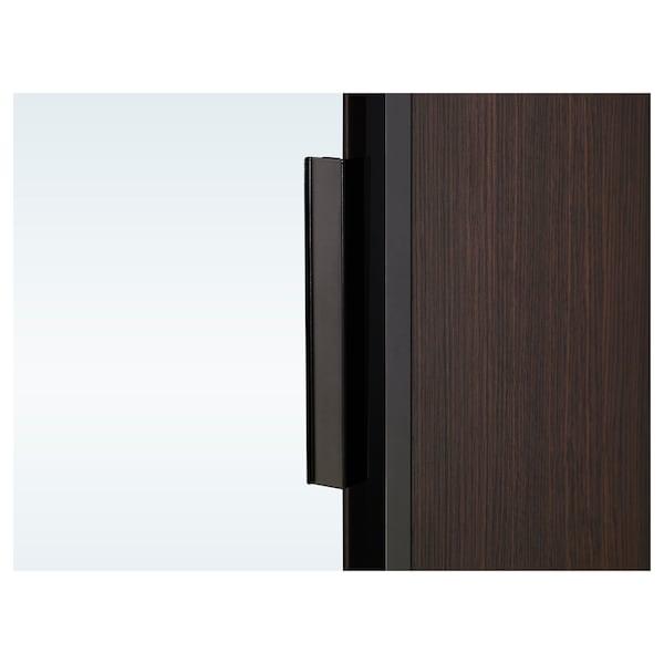 "TRYSIL Armoire-penderie, brun foncé/verre miroir, 31 1/4x24 1/8x79 3/8 """