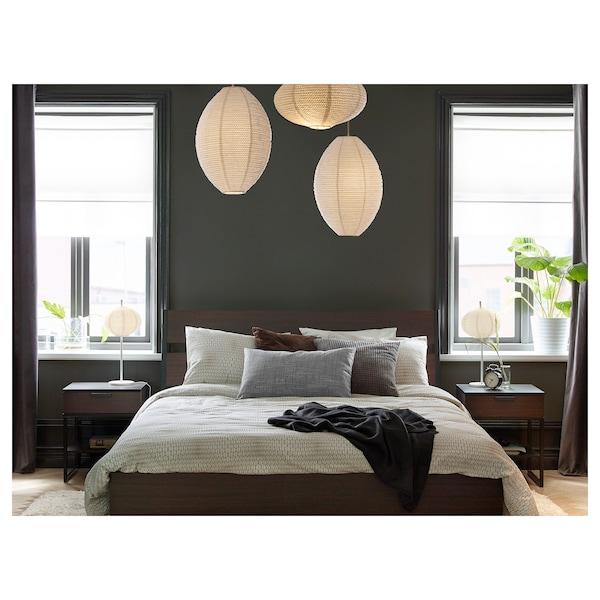TRYSIL Structure de lit, brun foncé/Luröy, Deux places