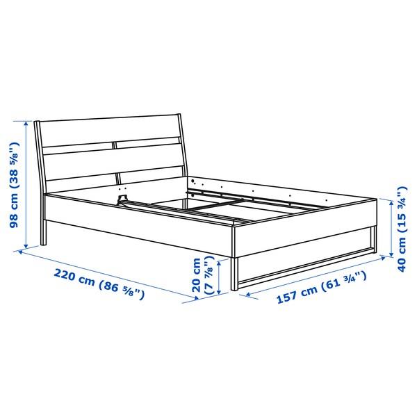 TRYSIL Structure de lit, brun foncé/Luröy, Grand deux places
