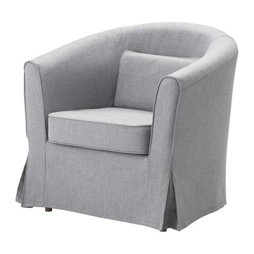 Tullsta housse fauteuil nordvalla gris moyen ikea for Housse fauteuil ikea