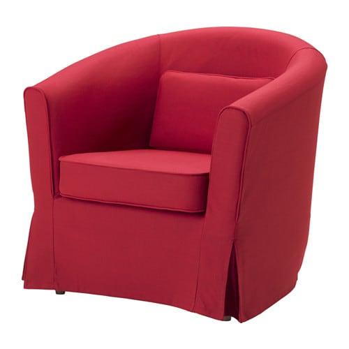 Tullsta housse fauteuil nordvalla rouge ikea for Housse de rangement ikea