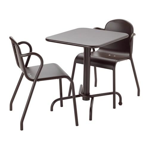 tunholmen table 2 chaises ext rieur brun fonc ikea. Black Bedroom Furniture Sets. Home Design Ideas