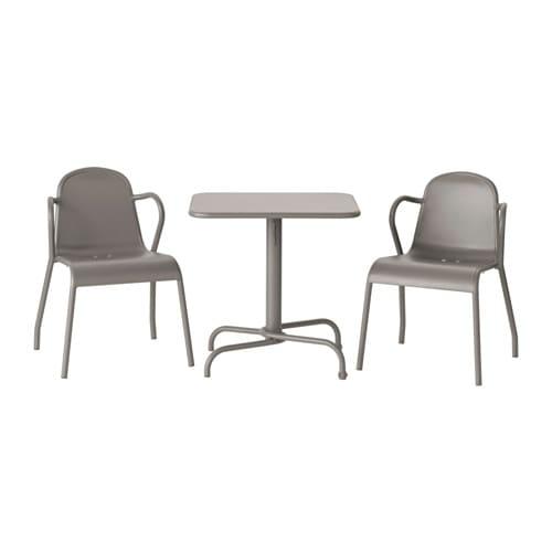 Tunholmen table 2 chaises ext rieur gris ikea - Table chaise exterieur ...
