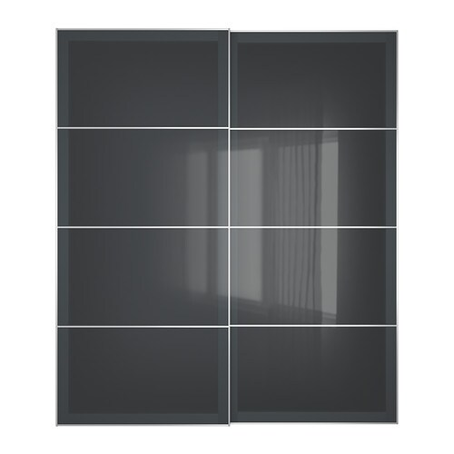 uggdal portes coulissantes 2 pi ces 200x236 cm amortisseur pour porte coulissante ikea. Black Bedroom Furniture Sets. Home Design Ideas