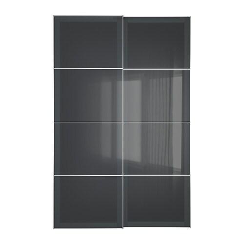 Uggdal Portes Coulissantes 2 Pièces 150x236 Cm Ikea