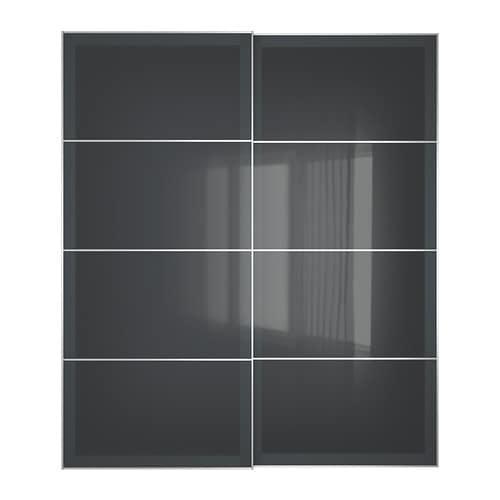 uggdal portes coulissantes 2 pi ces 200x236 cm amortisseur pour porte coulissante ikea. Black Bedroom Furniture Sets. Home Design Ideas