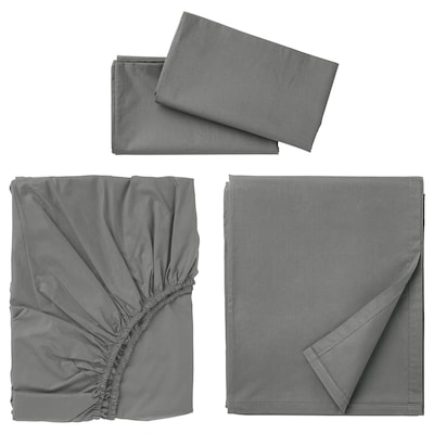 ULLVIDE Ensemble draps, gris, Grand deux places