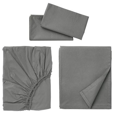 ULLVIDE Ensemble draps, gris, Grand deux places