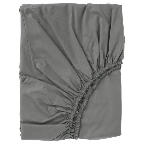 """ULLVIDE drap-housse gris 200 pouces carrés 74 """" 53 """" 15 """""""
