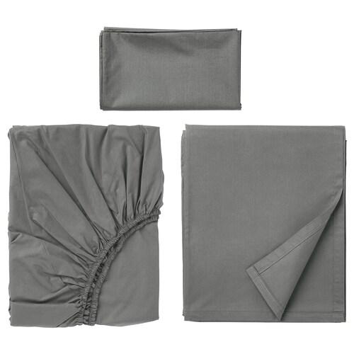 """ULLVIDE ensemble draps gris 200 pouces carrés 38 """" 74 """" 1 pièces 20 """" 30 """" 66 """" 102 """" 15 """""""