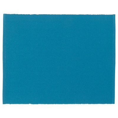 """UTBYTT Napperon, turquoise foncé, 13 ¾x17 ¾ """""""