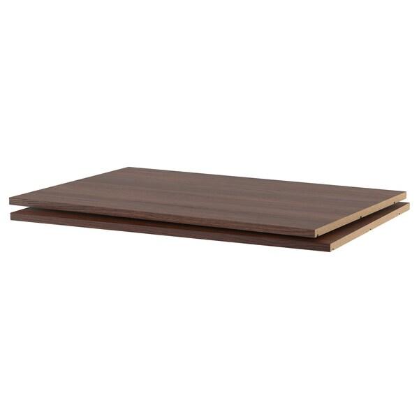 "UTRUSTA Tablette, effet bois brun, 36x24 """