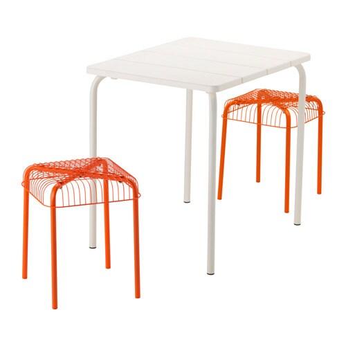 V dd v ster n table et 2 tabourets ext rieur ikea - Table d exterieur ikea ...