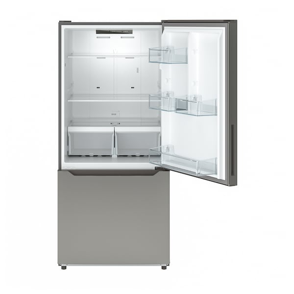 VÄLGRUNDAD Réfrigérateur av congél inférieur, acier inox, 19 cu.ft