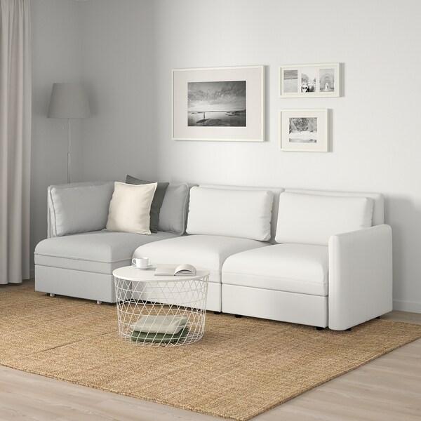 VALLENTUNA Canapé modulaire 3 pl avec can-lit, et rangement/Murum/Orrsta blanc/gris clair
