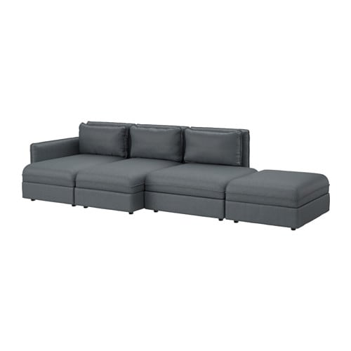 Vallentuna canap 4 places hillared gris fonc ikea for Canape ikea gris