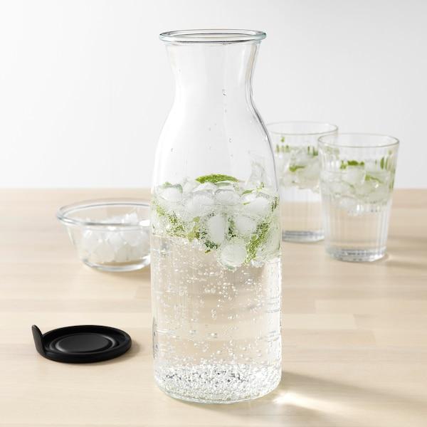 VARDAGEN Carafe avec couvercle, verre clair, 34 oz