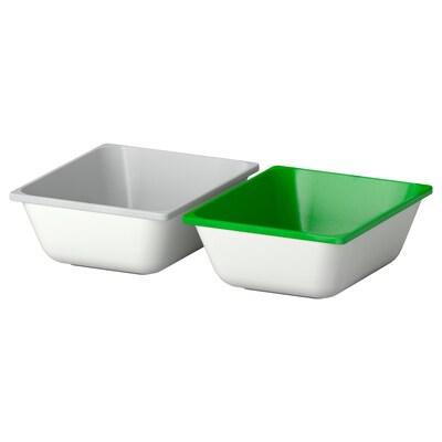 "VARIERA boîte vert/gris 6 "" 5 "" 2 pièces"