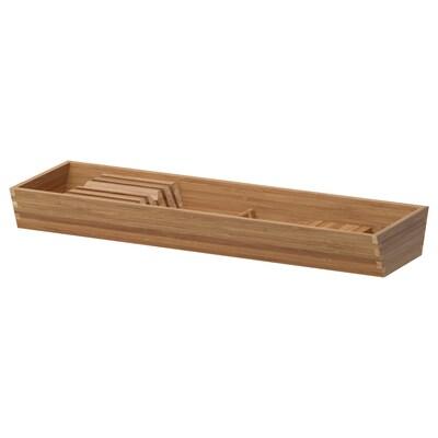 "VARIERA Range-couteaux pour tiroir, bambou, 6x20 """