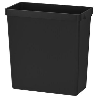 """VARIERA bac de recyclage noir 21 5/8 """" 10 1/4 """" 24 """" 20 7/8 """" 14 gallon"""